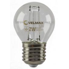 LED лампа VELMAX V-Filament-G45, 2W, E27, синя, 200Lm