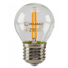 LED лампа VELMAX V-Filament-G45, 2W, E27, помаранчевий, 200Lm