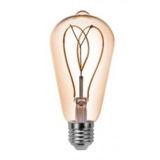 LED лампа VELMAX V-Filament-Amber-ST64-Петля, 4W, E27, 2700K, 300Lm
