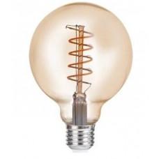 LED лампа VELMAX V-Filament-Amber-G95-Спіраль-V, 4W, E27, 2700K, 300Lm