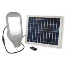 LED св-к уличный VELMAX V-SL-Solar, 20W, солнечная панель, кронштейн в комплекте