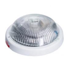 Светильник АЛЬФА, стекло-пласт., Е27, 100W, 245х85мм, IP44, СВІТ-БУД електро, белый