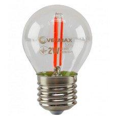LED лампа VELMAX V-Filament-G45, 2W, E27, червона, 200Lm