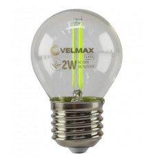 LED лампа VELMAX V-Filament-G45, 2W, E27, зелена, 200Lm
