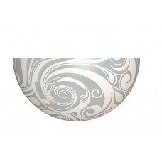 Светильник-бра, стекло-металл, Е27, 60W, 300х150х95мм, IP20, белый, круглый