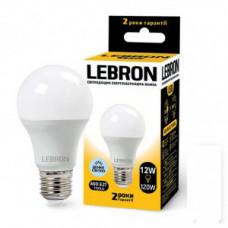 LED лампа Lebron L-A60, 12W, Е27, 6500K, 1100Lm, угол 240°