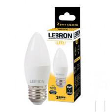 LED лампа LEBRON L-С37, 8W, Е27, 4100K, 700Lm