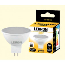 LED лампа LEBRON L-MR16, 5W, GU5,3, 4100K, 400Lm