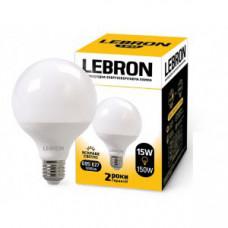 LED лампа LEBRON L-G95, 15W, Е27, 4100K, 1350Lm, угол 240°