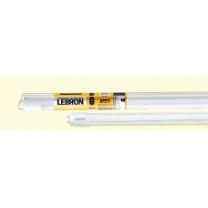 LED лампа LEBRON L-Т8-HR, 18W, 1200mm, G13, 6200K, угол 270 °, с держателем
