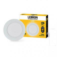 LED св-к LEBRON L-PR-1241, 12W, встроернный, 170 * 19mm, 4100K, 850Lm, угол 120 °