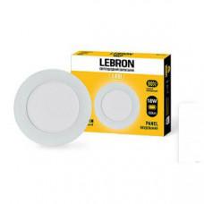 LED св-к LEBRON L-PR-1841, 18W, встроенный, O225 * 19mm, 4100K, 1260Lm, угол 120 °