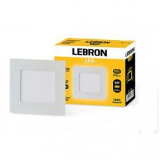 LED св-к LEBRON L-PS-341, 3W, встроенный, 85 * 85mm * 19mm, 4100K, 210Lm, угол 120 °