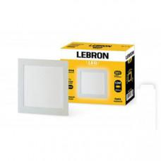 LED св-к LEBRON L-PS-1241, 12W, встроенный 166 * 166 * 19mm, 4100K, 850Lm, угол 120 °
