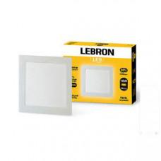 LED св-к LEBRON L-PS-1841, 18W, встроенный, 205 * 205 * 19mm, 4100K, 1260Lm, угол 120 °