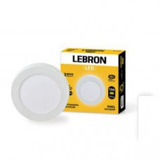 LED св-к LEBRON L-PRS-1241, 12W, нак-ный, O170 * 36mm, 4100K, 850Lm, угол 120 °