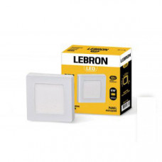 LED св-к LEBRON L-PSS-641, 6W, нак-ный, 120 * 120 * 36mm, 4100K, 420Lm, угол 120 °