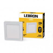 LED св-к LEBRON L-PSS-2465, 24W, нак-ной, 6500K, с блоком питания