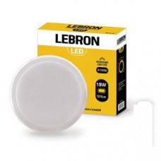 LED св-к LEBRON L-WLR, 18W, круглый, 4100K, 1575Lm, угол 140 °