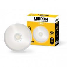 LED св-к LEBRON L-WLR-S, 6W, круглый, O155mm, 4100K, 480Lm, угол 140°, д.движения