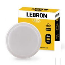 LED св-к LEBRON L-WLR-S, 8W, круглий, 4100K, 720Lm, ІР54, СВЧ д.р.