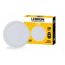 LED св-к LEBRON L-PR-1265, 12W, встроенный, 6500K, с блоком питания