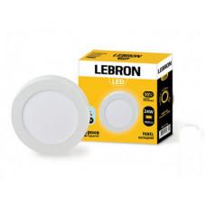 LED св-к LEBRON L-PRS-2465, 24W, нак-ной, 6500K, с блоком питания