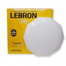 LED св-к LEBRON L-CL-DIAMOND, max 45W, 3000K, 4100K, 6500K, 3200Lm, O380*80mm