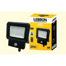 LED прожектор LEBRON LF-10S, 10W, 6500K, 800Lm, 230V, д. движения, ІР65