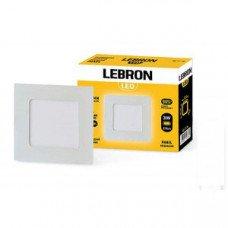 LED св-к LEBRON L-PS-641, 6W, встроенный, 120 * 120 * 19mm, 4100K, 420Lm, угол 120 °