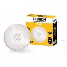 LED св-к LEBRON L-WLR-S, 10W, круглый, O155mm, 4100K, 800Lm, угол 140°, д.движения
