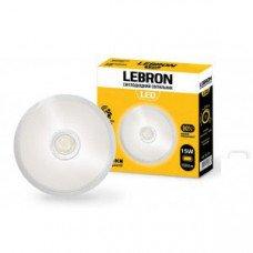 LED св-к LEBRON L-WLR-S, 15W, круглый, O250mm, 4100K, 1300Lm, угол 140°, д.движения