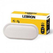 LED св-к LEBRON L-WLO-S, 12W, овал, 4100K, 1050Lm, ІР54, СВЧ д.р.