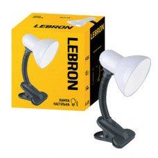 Лампа настольная с клипсой LEBRON L-TL-Clip, E27, 40W, белая