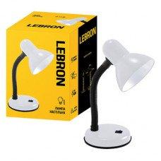 Лампа настольная LEBRON L-TL, E27, 40W, белая