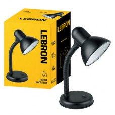 Лампа настольная LEBRON L-TL, E27, 40W, черная