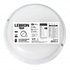 LED св-к LEBRON L-WLR, 8W, круглий, 4100K, 720Lm, ІР65