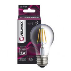 LED лампа VELMAX V-Filament-G45, 6W, E27, 4100K, 630Lm