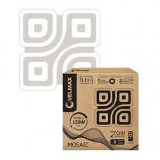 LED светильник VELMAX V-CL-MOSAIC, 120W, smart, 3000K-6500K, 8500Lm, пульт ДУ