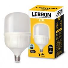 LED лампа LEBRON L-А80, 20W, Е27, 6500K, 1800Lm.