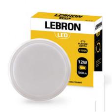 LED світильник LEBRON L-WLR-S, 15W, круглий, 4100K, 1300Lm, ІР65, СВЧ датчик руху.