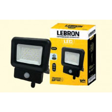 LED прожектор LEBRON LF-50S, 50W, 6500K, 4000Lm, 230V, д.руху ІР65