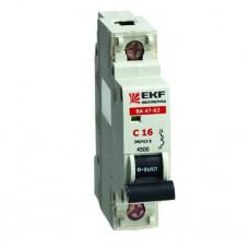 Автоматический выключатель ВА 47-63 1P  6А (D) 4,5kA (аналог ВА 47-29)