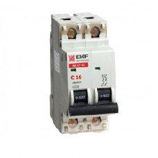 Автоматический выключатель ВА 47-63 2P 25А 4,5 кА D (аналог ВА 47-29)