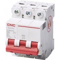 Модульный автоматический выключатель YCB6Н-63, 3Р, 20А, 4,5kA, тип С, CNC
