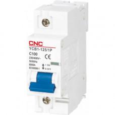 Модульный автоматический выключатель YCB1-125, 1Р, 100А, 6kA, тип D, CNC