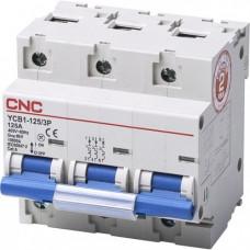 Модульный автоматический выключатель YCB1-125, 3Р, 100А, 6kA, тип D, CNC