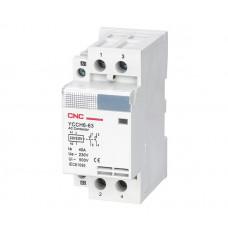 Контактор модульный YCCH6-63, 2Р, 220В, 2NO, 63A, CNC