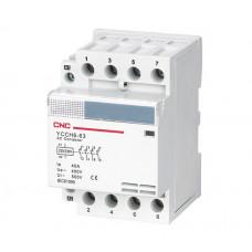 Контактор модульный YCCH6-25, 4Р, 220В, 4NO, 25A, CNC
