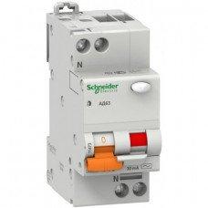 Дифференциальный автоматический выключатель АД63 2П 16A З 30МА Schneider Electric